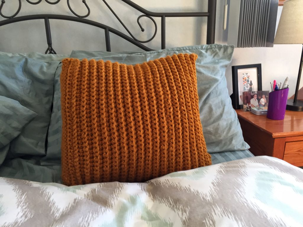 Simple Texture Crochet Pillow Pattern