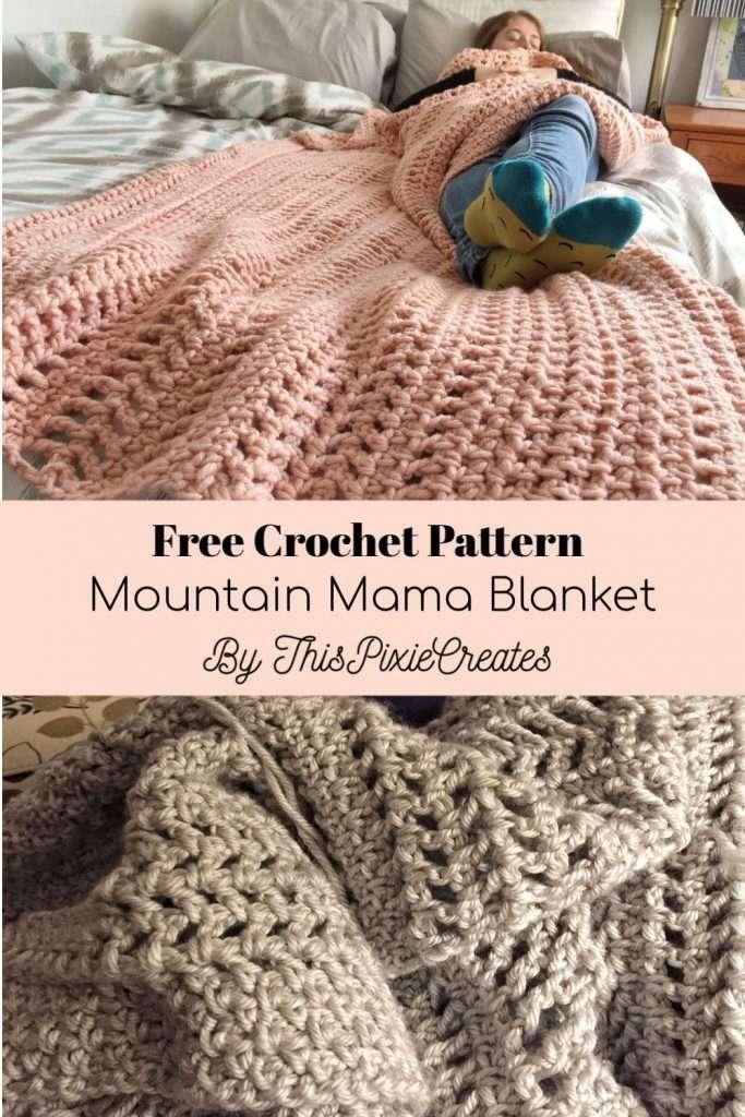Mountain Mama Crochet Blanket Pinterest Pin