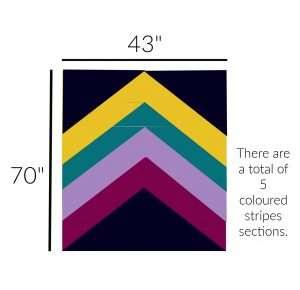Diagram of Crochet Triangle Striped Blanket