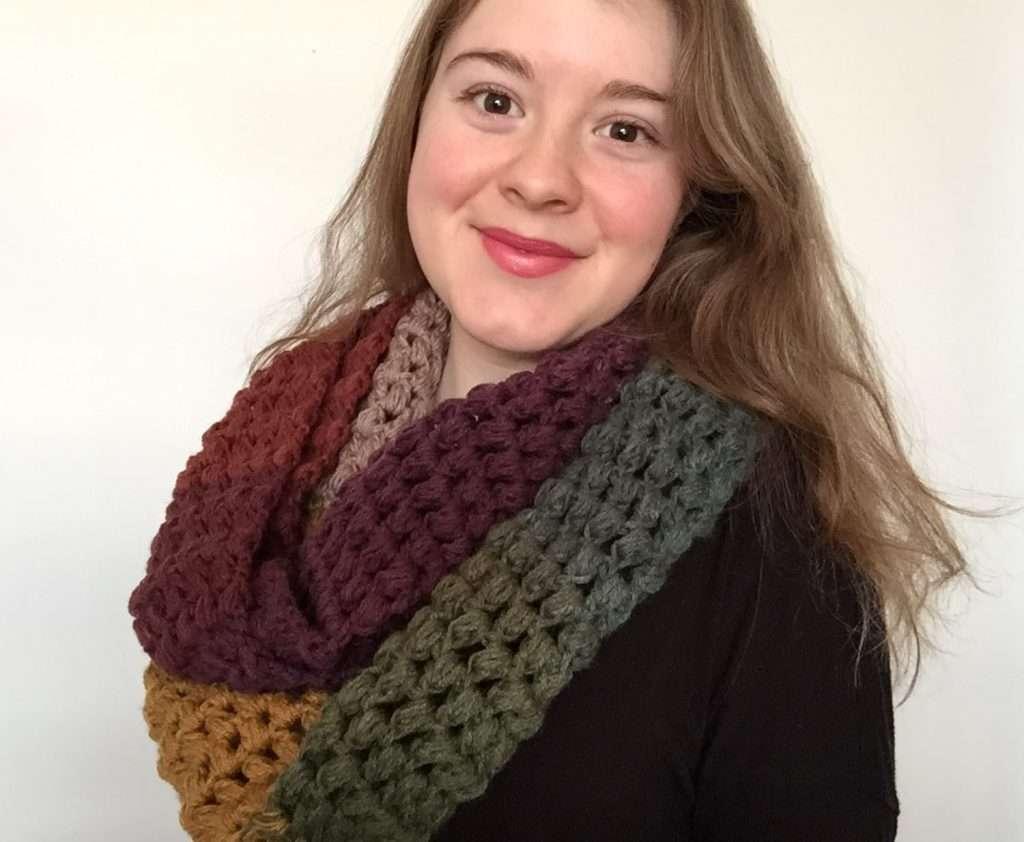 Cloud 9 Infinity Scarf Crochet Pattern for Beginners