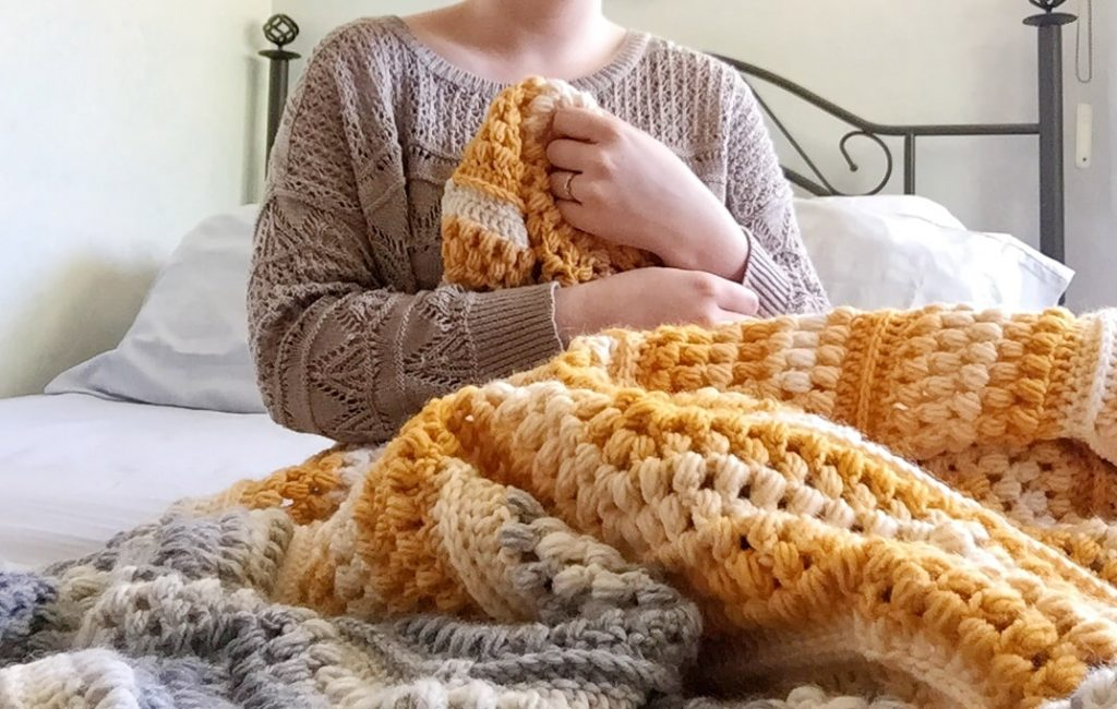 Textured and Easy Crochet Chevron Blanket Free Pattern