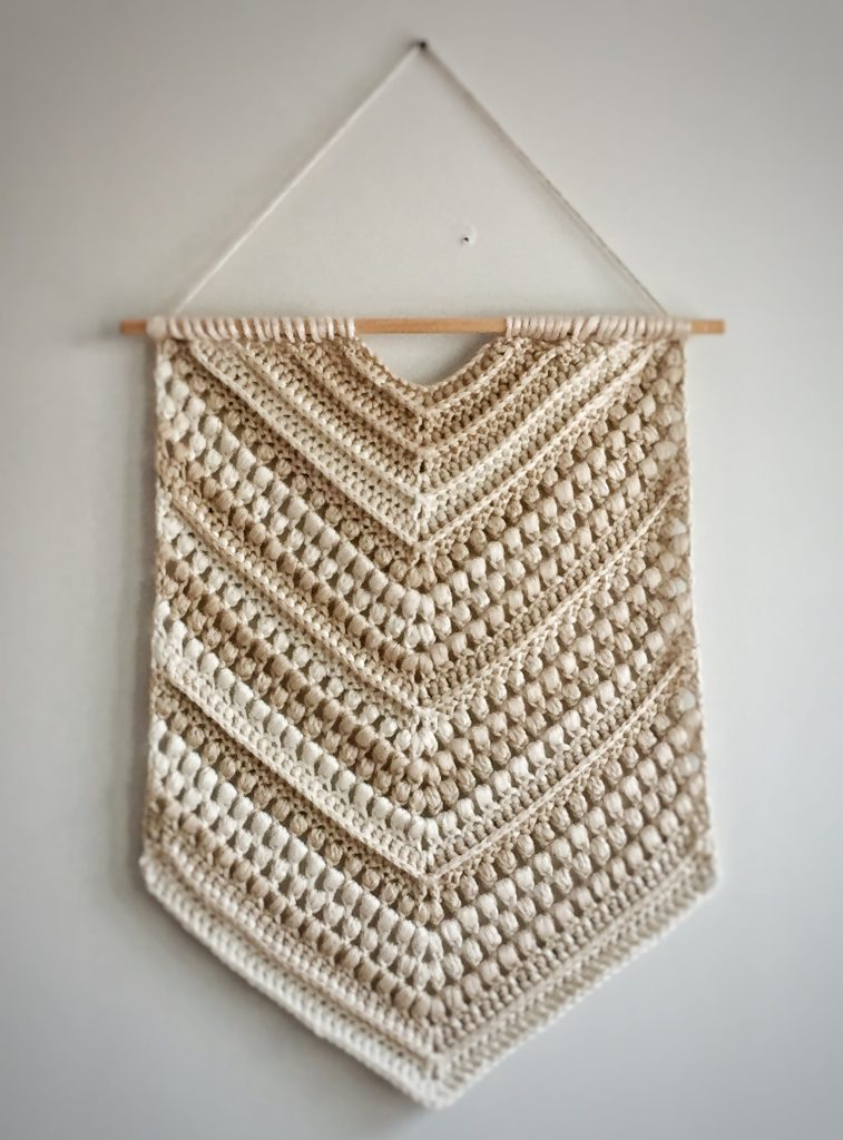 Boho Crochet Wall Hanging with Textured Stitches Free Pattern