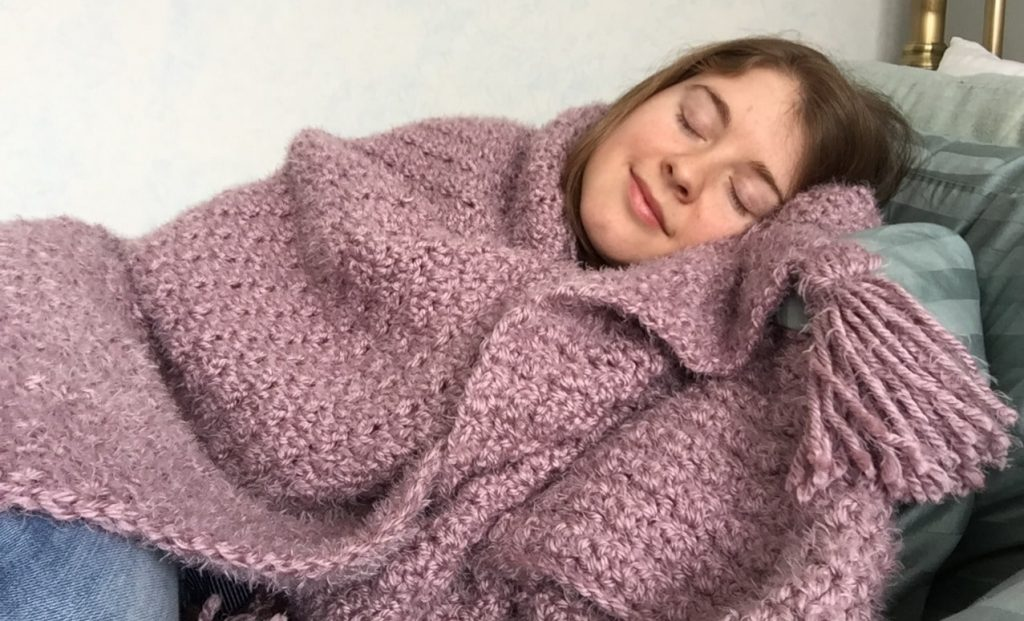 Coziness is a Mood Crochet Blanket Free Pattern
