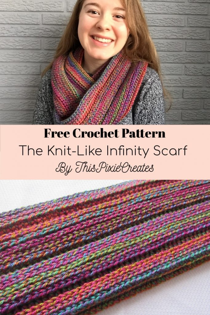 The Knit-Like Infinity Scarf Pinterest Pin