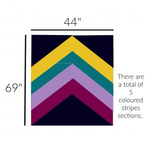 Diagram of Crochet Triangle Striped Blanket