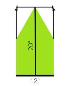 Crochet a Triangle into a Rectangle Diagram