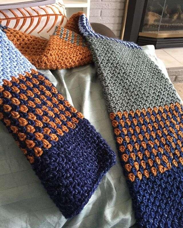 Crochet Tube Scarf using Lion Brand Jeans Yarn