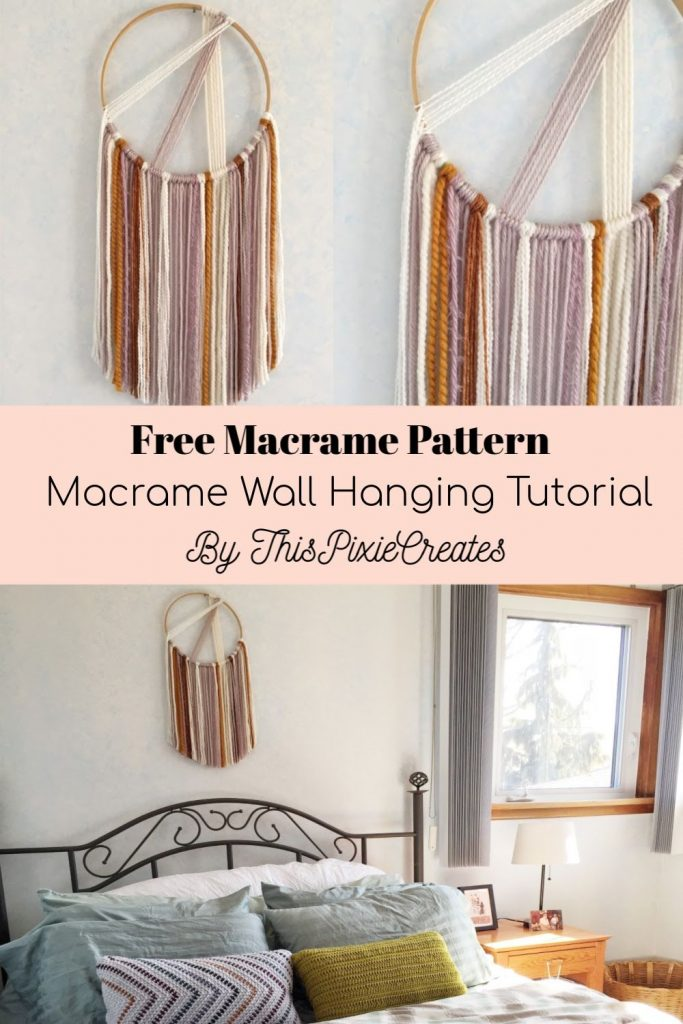 Free Macrame Pattern by ThisPixieCreates Pinterest Pin