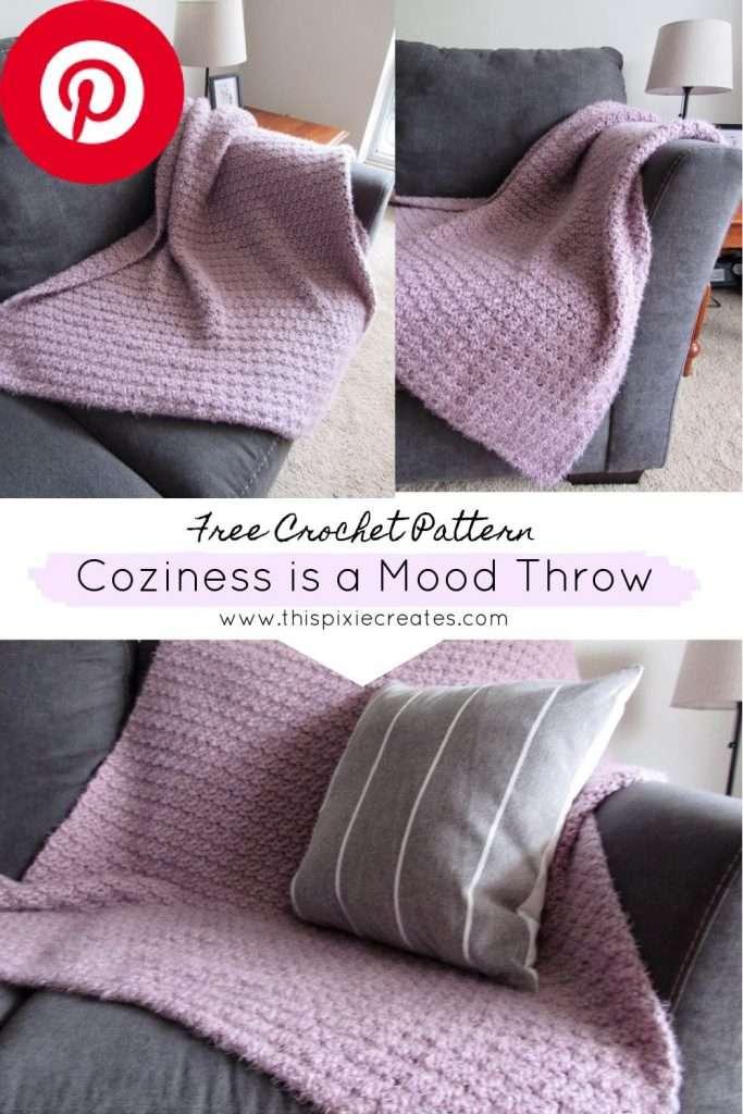 Free Crochet Blanket Pattern Pinterest Pin