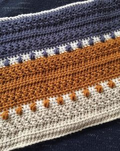 Crochet Blanket with Puff Stitches