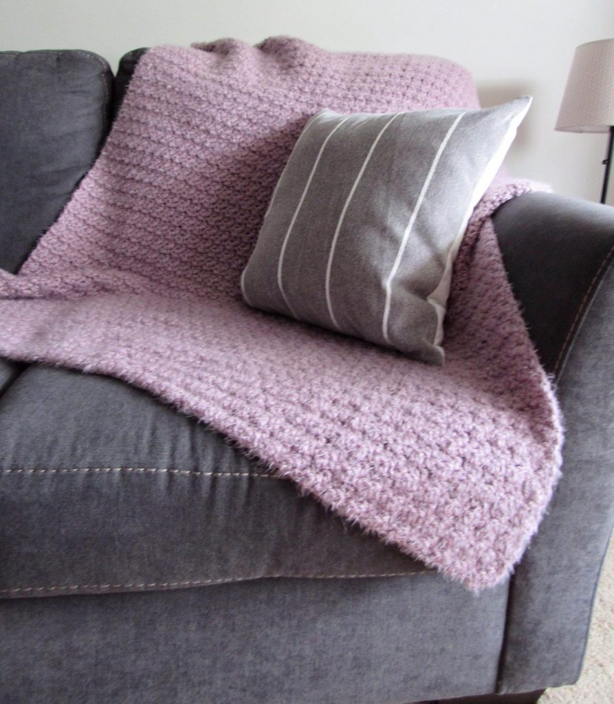 Purple Hygge Crochet Blanket