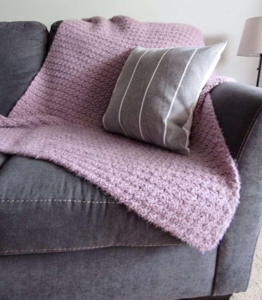 Purple Hygge Crochet Blanket