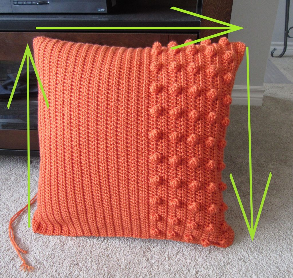 Sewing a Crochet Pillow Together