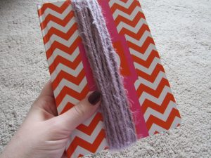 Wrap Yarn Around a Book to Make Tassels