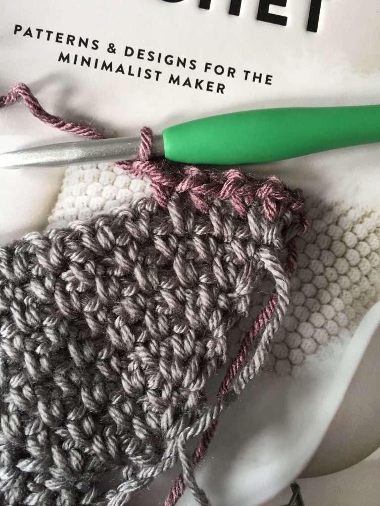 Single Crochet Moss Stitch Pattern