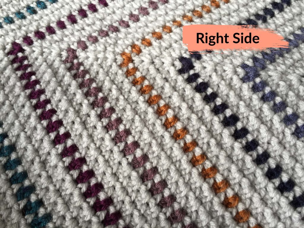 Right Side of the Moss Stitch Pattern