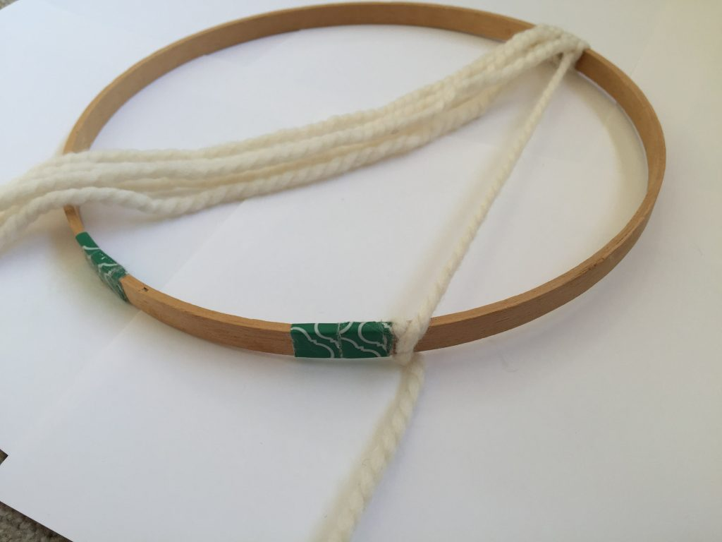 DIY Macrame on an Embroidery Hoop