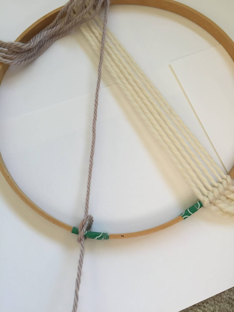 Regular Knot on an Embroidery Hoop