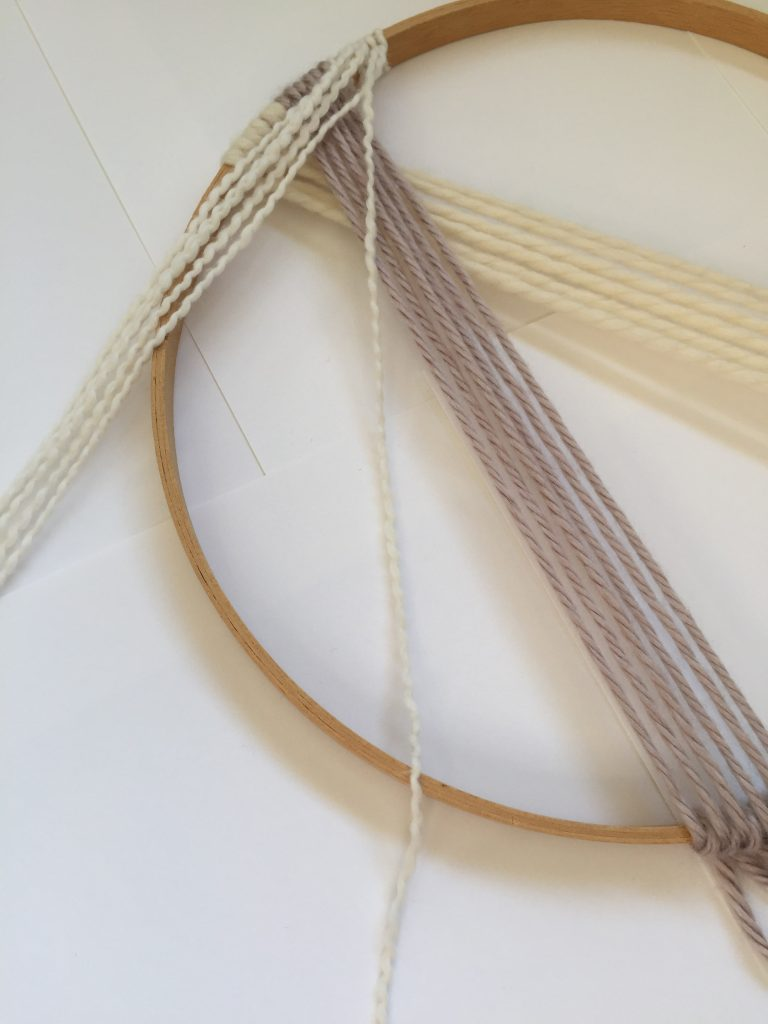 Macrame DIY on an Embroidery Hoop