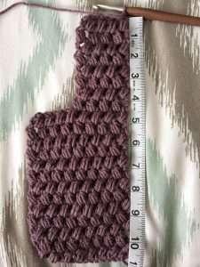 First Half of Puff Stitch Twist