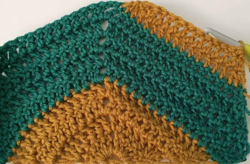 Crochet Triangle Decrease on each side