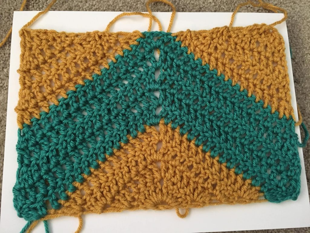 Crochet Blocking with Straight Pins