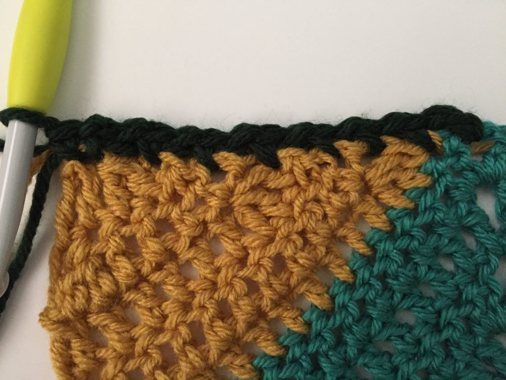 Crochet Moss Stitch Border