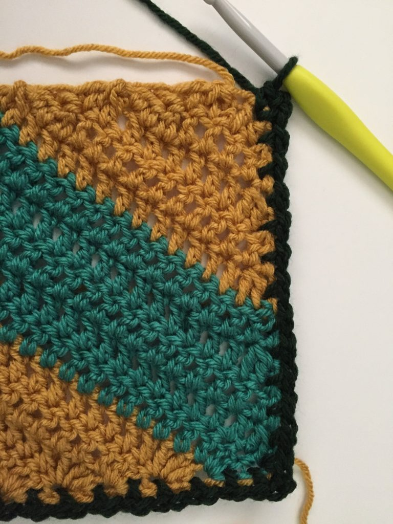 Crochet Moss Stitch Blanket Border