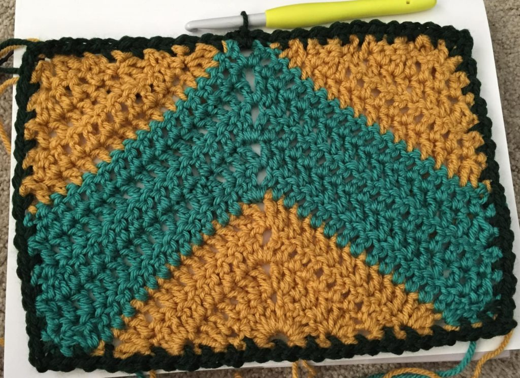 One Row of Moss Stitch Border