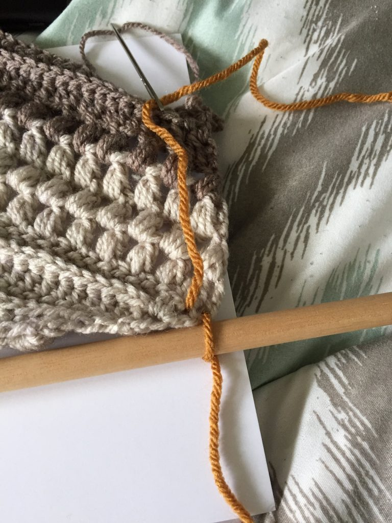 Attach a Crochet Wall Hanging to a Dowel