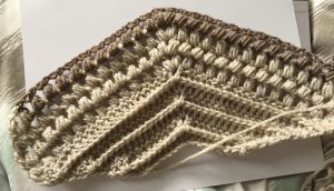 Picture of Row 10 of the Willow Crochet Wall Hanging