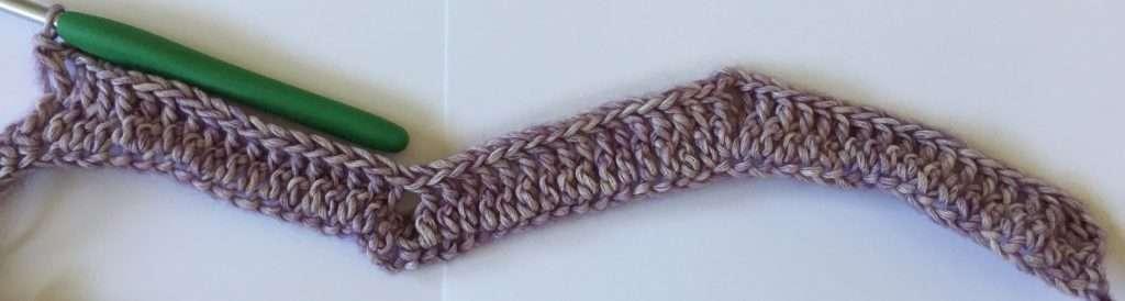 Crochet Chevron Two Rows