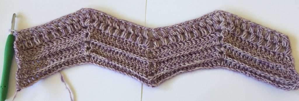Crochet Chevron Puff Stitch Rows