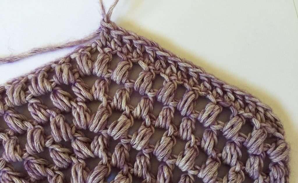 Crochet Puff Stitch Chevron Pattern
