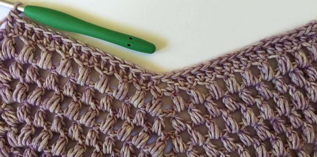 Crochet Double Crochet and Puff Stitch Chevron