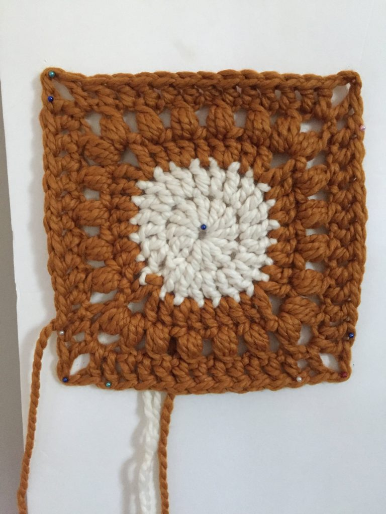 Blocking a Granny Square Crochet