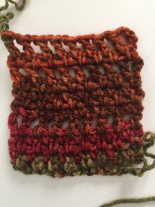 Single and Double Crochet Stitch Scarf Sample