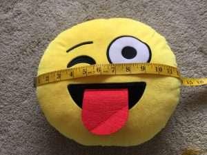 Measuring a Circular Pillow Form