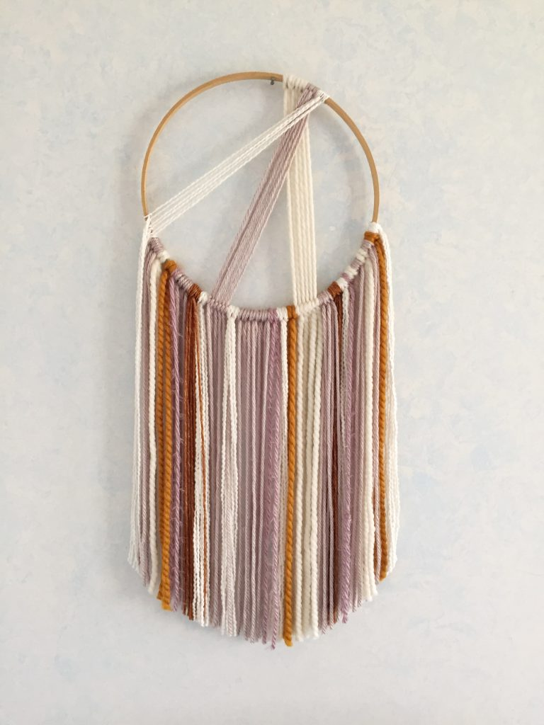 Easy Macrame Boho Wall Hanging