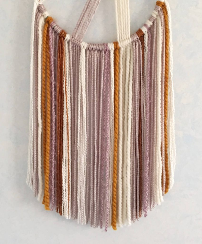Fringe on a Macrame Wall Hanging
