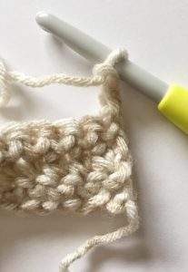 Beginning chain of a stitch crochet
