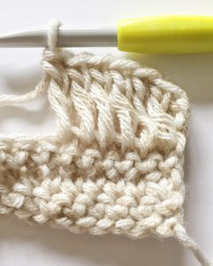Long Double Crochet Wrong Side