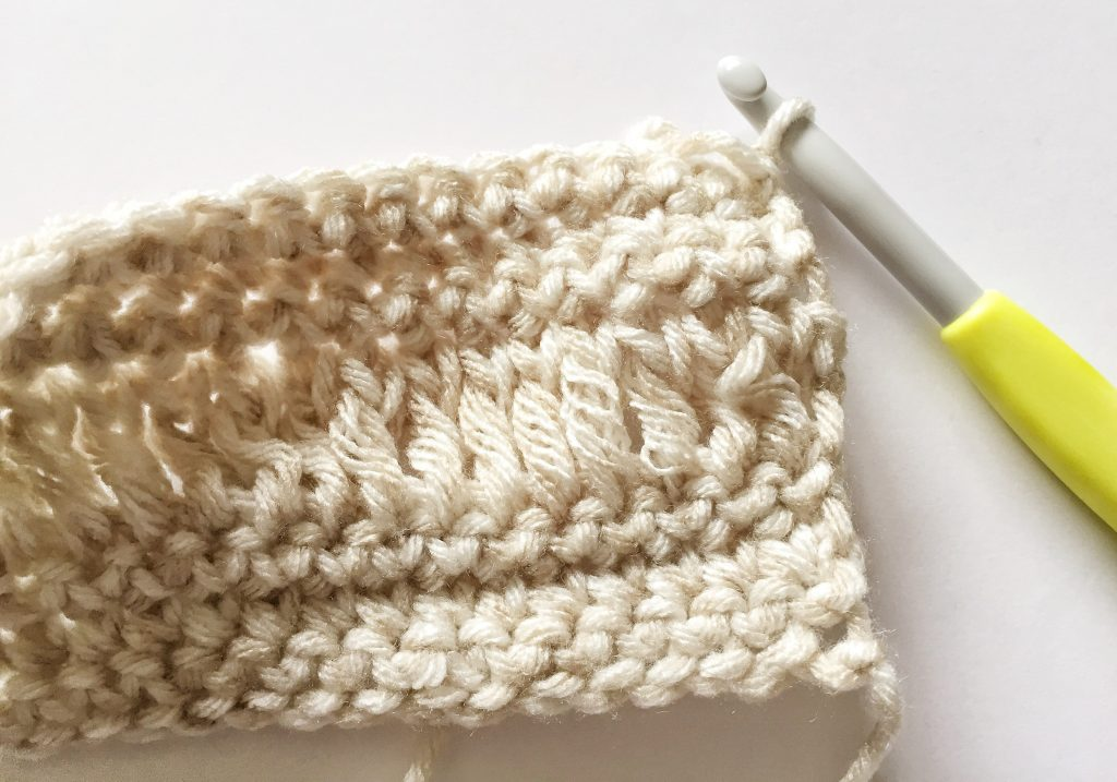 Right Side of the Long Double Crochet Stitch