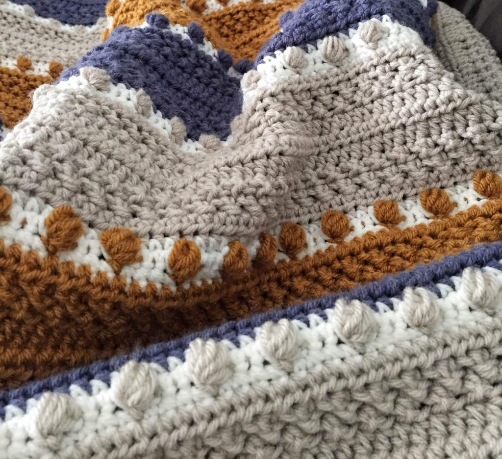 Close Up of the For the Love of Texture Crochet Blanket