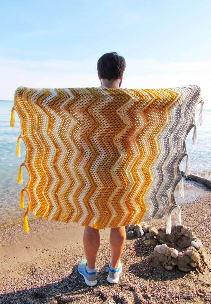 Chevron with a Twist Crochet Blanket Pattern