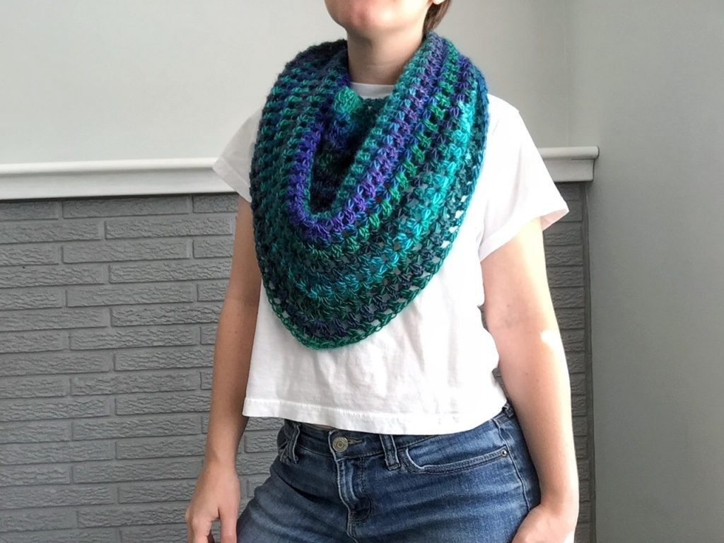 Easy Crochet Triangle Scarf Pattern