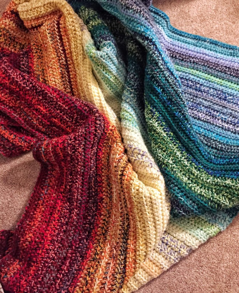 Rainbow Weighted Crochet Blanket Pattern for Beginners