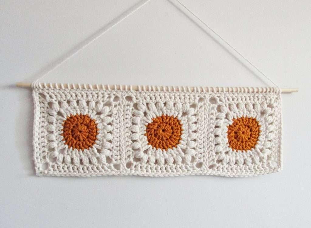 Bohemian Crochet Wall Hanging Free Pattern