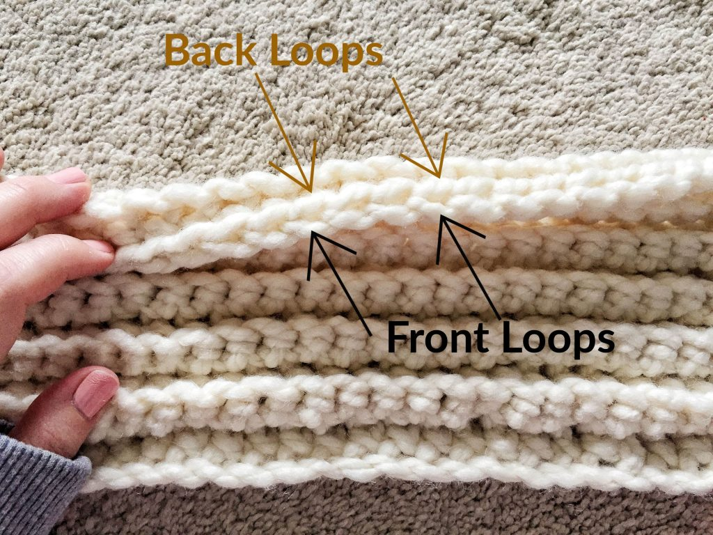 Crochet Back Loops and Front Loops of a Stitch