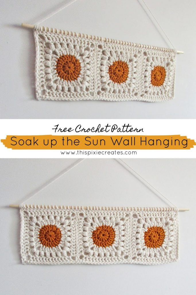 Crochet Wall Hanging Pinterest Pin Free Crochet Pattern